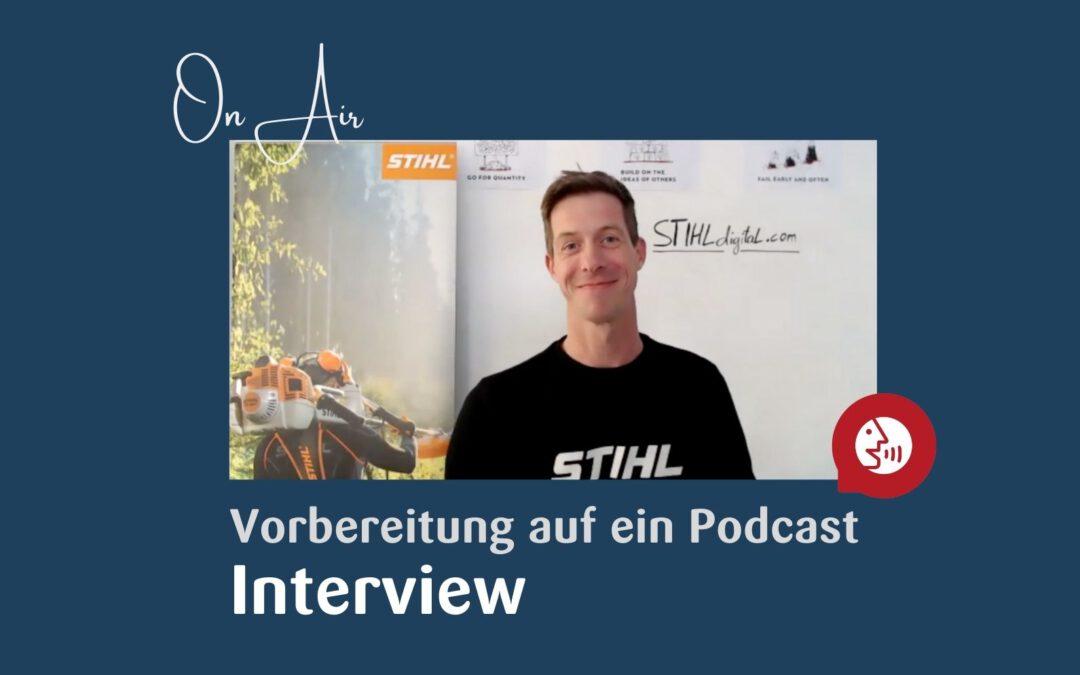 Vorbereitung auf einen Podcast oder ein YouTube-Interview
