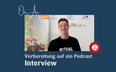 Vorbereitung auf einen Podcast oder ein YouTube Interview